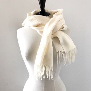 Lord and Taylor Cream White Scarf